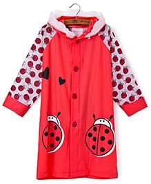 Pre Order : Superfie Bee Raincoat - Red