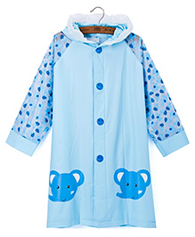 Pre Order : Superfie Baby Elephant Raincoat - Blue