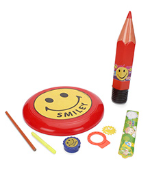 Funworld Stationery Kit With Frisbee Pack Of 7 (Color May Vary)