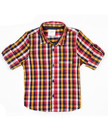 Nahshonbaby Full Sleeves Shirt Checks Print - Multi Color