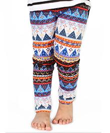 Nahshonbaby Full Length Leggings Multi Print - Multi Color