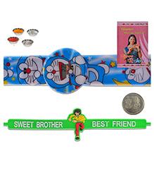 Litte India Doraemon Digital Wrist Watch Kids Rakhi And Sweet Brother Quote Stylish Rakhi