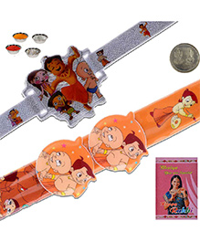 Litte India Chhota Bheem Design Flexible Rakhi And Chhota Bheem Design Rakhi