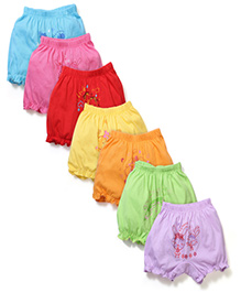 Simply Printed bloomers Set of 7 - Multi Color