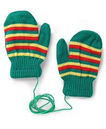 Model Stripe Hand Gloves - Green