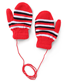 Model Stripe Hand Gloves - Red