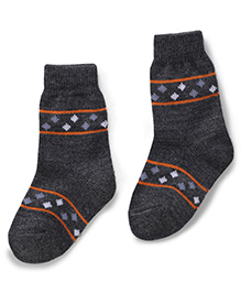 Model Ankle Length Warm Socks - Dark Grey