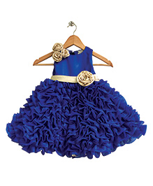 Flutterbows Stiff Tissue Layered Gown - Royal Blue
