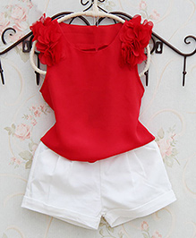 Pre Order : Lil Mantra Top & Shorts Set - Red