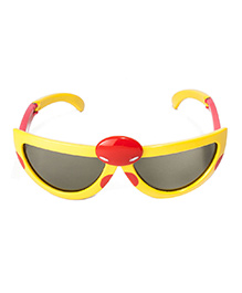 VESPL Polarized Foldable And Stretchable Oval Sunglasses - Yellow