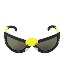 VESPL Polarized Foldable And Stretchable Oval Sunglasses - Black