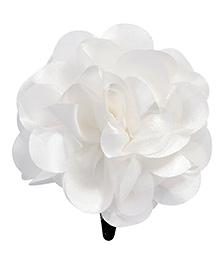 Miss Diva Single Flower Snap Clip - White