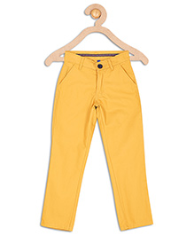 612 League Full Length Twill Trouser - Yellow