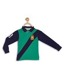 612 League Full Sleeves T-Shirt - Green Blue