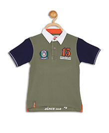612 League Short Sleeves T-Shirt Numeric 15 Embroidery - Green Blue