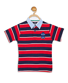 612 League Short Sleeves Stripe T-Shirt - Red Navy
