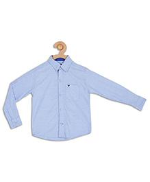 612 League Full Sleeves Plain Shirt - Blue