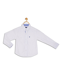612 League Full Sleeves Solid Shirt - White