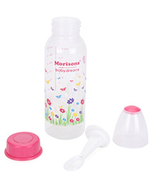 Morisons Baby Dreams Feeding Bottle With Feeder Spoon Pink - 250 Ml
