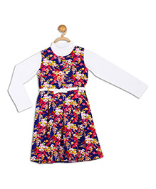 612 League Frock With Inner Top -Multicolour