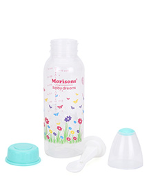 Morisons Baby Dreams Feeding Bottle With Feeder Spoon Green - 250 Ml