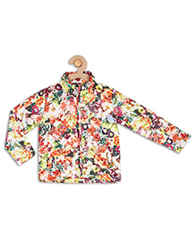 612 League Full Sleeves Jacket Floral Print - White & Multi Color