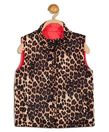 612 League Sleeveless Reversible Jacket Animal Print - Brown Black