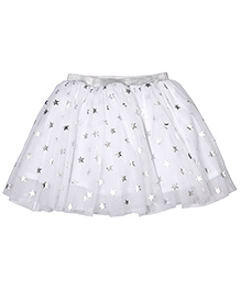 CrayonFlakes Star Print Skirt - White