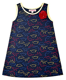 CrayonFlakes Krazy Dino Knit Dress - Navy
