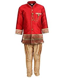 Bunchi Royal Sherwani Set - Red