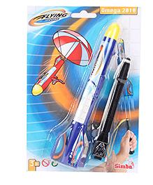 Simba Flying Zone Omega Plastic Rocket Set Blue Black - 9 Inches