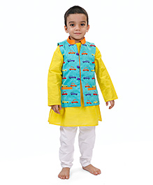 Raghav Vroom Vroom Embroidered Quirky Jacket - Turquoise