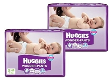 Huggies - Wonder Pants S (4 - 8 Kg), 48 Pieces (Combo pack of 2)