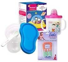 Combo pack of Teether,Feeding Cup & Mashing And Feeding Bowl (Pack of 3)