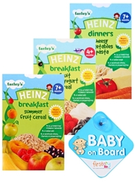 Baby Food Combo with Baby on Board (Pack of 4)