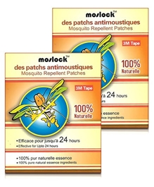 Moslock Mosquito Repellent Patches 100 percent Naturelle (Pack of 2)