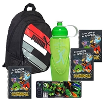 Puma Back Pack with Sport Water Bottle,NoteBooks,Lunch Box & Pencil Box