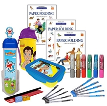 Paper Folding Books with Sipper,Lunch Box,Pencil Box,Pen & Glitter Glue