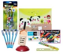 Coloring Set with Pen Stand,Pen,Bag Folder,Ruler,Eraser & Topper Pencil