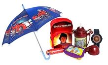 Shaktiman School Bag with Wrist Watch,Umbrella,Lunch Box & Water Bottle