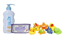 Baby Bath Toys with Bubble Bath,Bedtime Bath & Gentle Baby Wipes