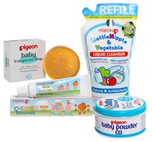 Baby Pigeon Combo(Baby Powder,Soap,Toothpaste & Liquid Cleanser)