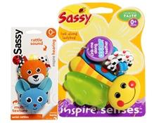 Sassy Combo ( Wrist Rattle-Cat& Mouse with Link Along Ladybug)