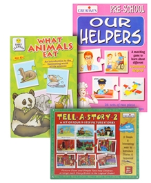Frank Puzzle(What Animals Eat) with Creatives Tell A Story & Our Helpers Match Up