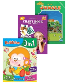 Sterling - Bubbles 3 In 1 Book With Stickers with Model Construction Book & Chart Book