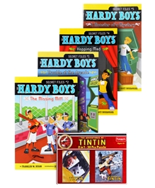Funskool Tin Tin Puzzle with The Hardy Boys Story Books Combos