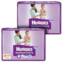 Huggies - Wonder Pants,M, (7 -12 Kg), 44 Pieces (Combo Pack of 2)