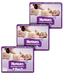 Huggies - Wonder Pants, S (4 - 8 Kg), 48 Pieces (Combo Pack of 3)