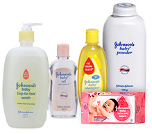 Johnson & Johnson Combo(Top to Toe Wash, Baby Powder, Baby Oil, Baby Shampoo & Baby Wipes)