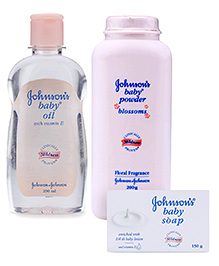 Johnson & Johnson Combo(Baby Soap, Baby Oil & Baby Bedtime Powder)